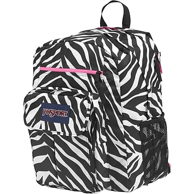 Jansport Digital Student Backpack, Black/White/Zebra
