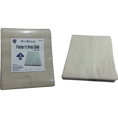 Dirt Defense Painter's drop cloth 4ft x 12ft