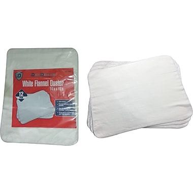 Dirt Defense Flannel duster, white, 12 pack