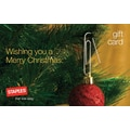 Staples Holiday Ornament Gift Card $50