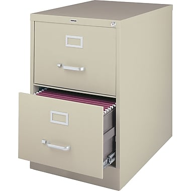 Hirsh Industries 2 Drawer Vertical File, Putty/Beige,Legal, 15''W (25158D-CC)