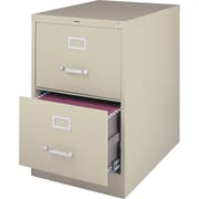 "Staples® 25"" Deep 2-Drawer Commercial Vertical File Cabinet, Putty, Legal Size"