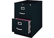 Staples® 25' Deep 2 Drawer Commercial Vertical File Cabinet, Legal Size, Black