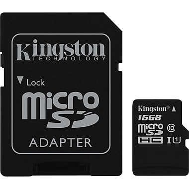 Kingston® 16GB Micro SDHC, Class 10
