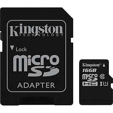 Kingston™ – Carte Micro SDHC, classe 10, 16 Go