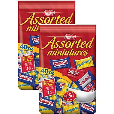 Nestle Assorted Chocolate Miniatures, 40 oz. 2/BD