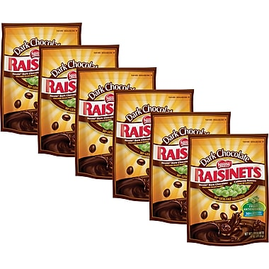 Nestlé Raisinets Dark Chocolate Covered Raisins, 11 oz. 6/BD