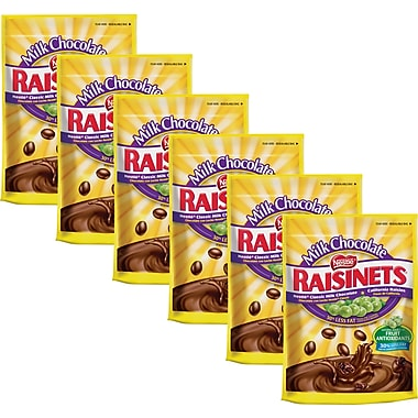 Nestlé Raisinets Milk Chocolate Covered Raisins, 11 oz. 6/BD
