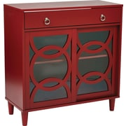 INSPIRED by Bassett Halo Hall Storage, Cardinal Red Finish