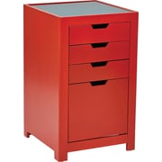 INSPIRED by Bassett Modern Accent Storage, Coral Red Finish