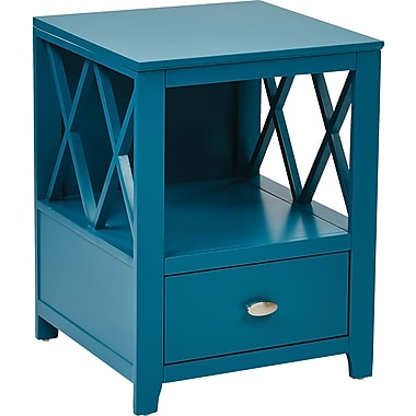 INSPIRED by Bassett Lattice Accent Storage, Cadet Teal Finish