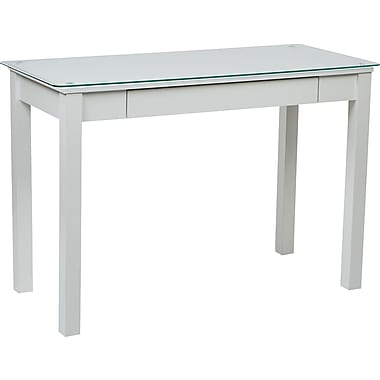 INSPIRED by Bassett Primo Parsons Desk, Arctic White Finish
