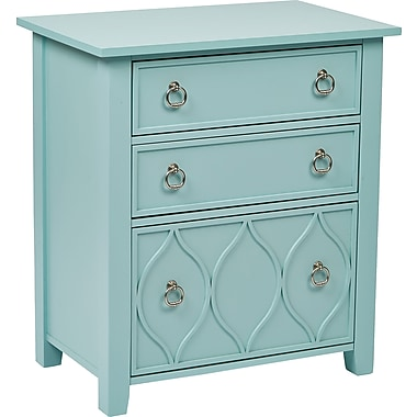 INSPIRED by Bassett Glam Accent Storage, Slate Blue Finish