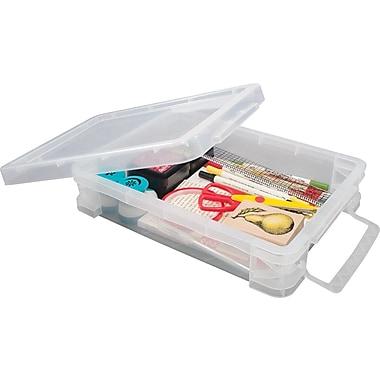 Advantus Super Stacker® Document Box, Clear, 14 1/4