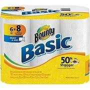 Bounty® Basic Select-A-Size Paper Towels, 1-Ply, 6 Rolls/Pack