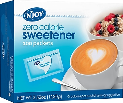 N Joy Blue Aspartame Zero Calorie Sweetener Packets 1g 100 Bx