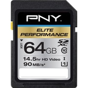 PNY Elite Performance 64GB SD (SDXC) Class 10 Flash Memory Card