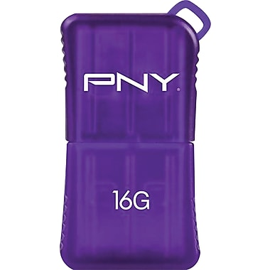 PNY 16GB MicroSleek USB Flash Drive (Purple)