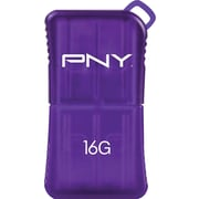 PNY PFDU16GSLKPRPGE 16GB USB 2.0 MicroSleek Flash Drive, Purple