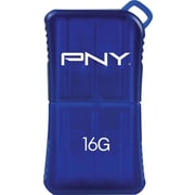PNY 16GB MicroSleek USB Flash Drive (Blue)