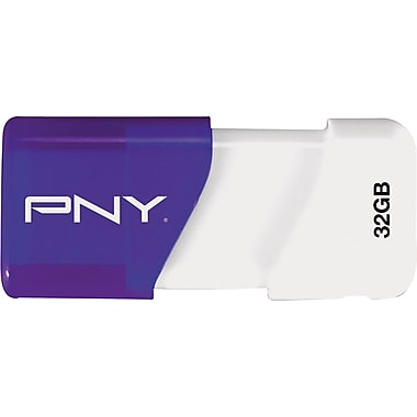 PNY 32GB Compact Attache USB Flash Drive (Blue/White)