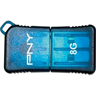 PNY 8GB MicroSleek USB Flash Drive (Blue)