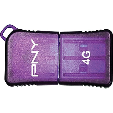PNY 8GB MicroSleek USB Flash Drive (Purple)