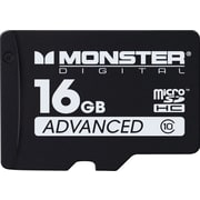Monster Digital 16GB microSDHC Advanced Series Flash Memory Card