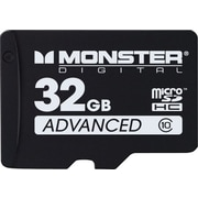 Monster Digital 32GB microSDHC Advanced Series Flash Memory Card