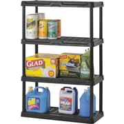 PLASTIC 5-SHELF UNIT. BLACK 56 X 36 X 18