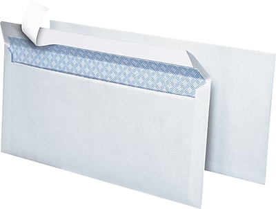 Simply QuickStrip Security Tint Lightweight 10 Envelopes 4 1 8 x 9 1 2 White 25 Pack 74049