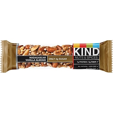 KIND Madagascar Vanilla Almond Bar, 1.4 oz., 12 Bars/Bx