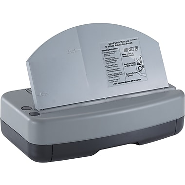 OIC Recycled Electric, Adjustable 2-3 Hole Punch