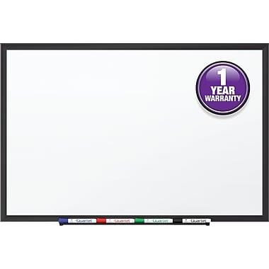 Quartet® Standard Whiteboard, 4' x 3', Black Aluminum Frame (S534B)