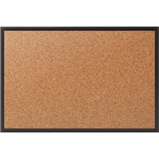 quartet cork bulletin board black frame