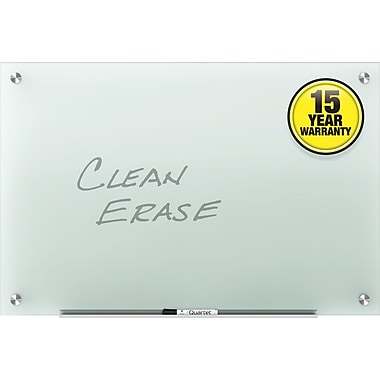 Quartet® Infinity™ Glass Marker Board, 6' x 4', Frosted Surface, Frameless (G7248F)