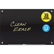 Quartet® Infinity™ Glass Magnetic Marker Board, 3' x 2', Black Surface, Frameless (G3624B)
