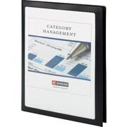Frame View Poly Two-Pocket Folder, 8-1/2 x 11, Black, 5/Pack