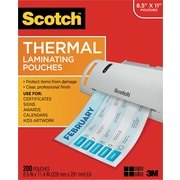 Scotch™ TP3854-200 Thermal Laminating Pouches, 3 mil, Letter Size, 200/Pack