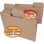Tree Free SuperTab File Folders, 1/3 Cut, Letter, , Natural Brown, 100/BX
