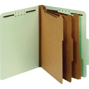 Globe-Weis® Top Tab Classification Folders, 3 Part, Light Green, Letter, 10/Box