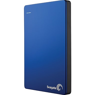 Seagate Backup Plus Slim 2TB Portable USB 3.0 Hard Drive with Mobile Device Backup (Blue)