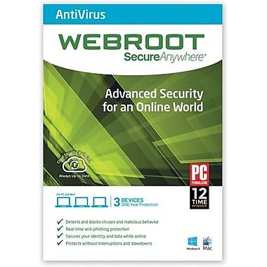 Webroot SecureAnywhere Anitvirus for Windows/Mac (1-3 Users) [Download]