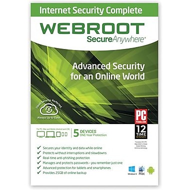 Webroot SecureAnywhere Internet Security Complete for Windows/Mac (1-5 Users) [Download]