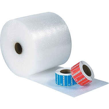 Staples Perforated Bubble Rolls, 1/2in. Bubble Height, 24in. x 125', 2/Bundle