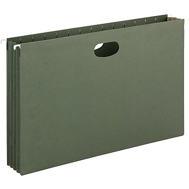 Smead® Hanging File Pockets, Legal, Standard Green, 10/Box