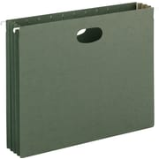 Smead® Hanging File Pockets, Letter, Standard Green, 10/Box