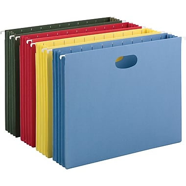 Smead® Hanging File Pockets, Letter, Assorted Colors, 4/Pack