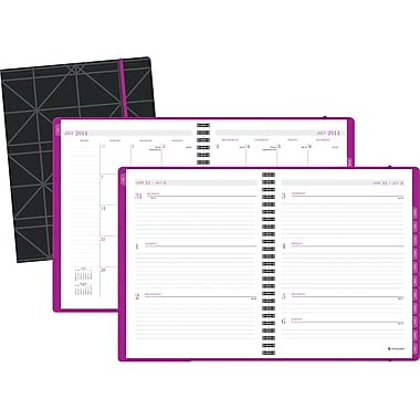 2014/2015 AT-A-GLANCE® Neoprene Weekly/Monthly Planner, 6 5/8in. x 8 3/4in.