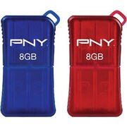 PNY 8GB MicroSleek USB Flash Drives (Red and Blue)